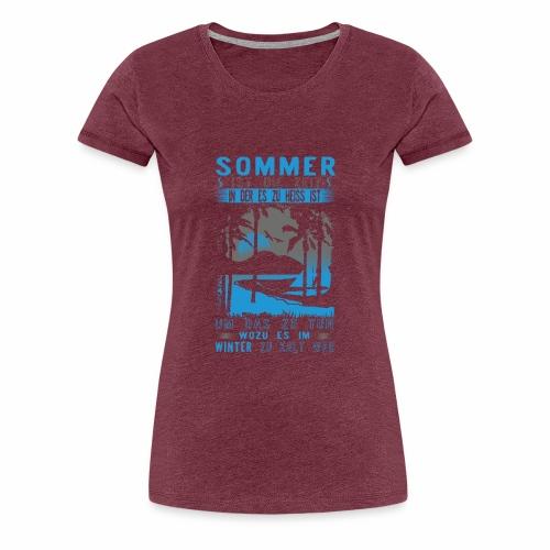Sommer, Sonne, Strand - Frauen Premium T-Shirt