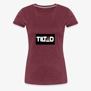 Tilted logo - Premium-T-shirt dam