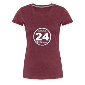 Race24 round logo white - Women's Premium T-Shirt