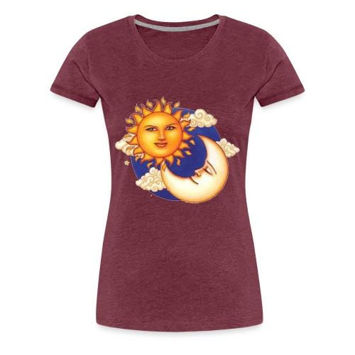 Sun and moon - Vrouwen Premium T-shirt