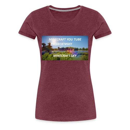 MINECRAFT SKY - Frauen Premium T-Shirt