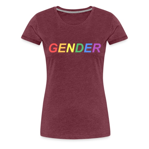 Rainbow Gender - Women's Premium T-Shirt