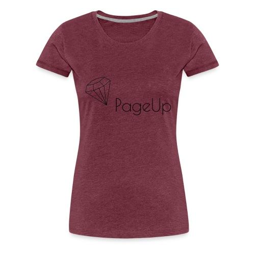 PageUp on logo snapback - Women's Premium T-Shirt