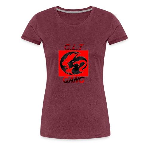 G.L.T Gang Logo on hat - Women's Premium T-Shirt