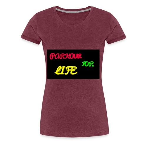 Parkour for Life graffiti merchandise - Women's Premium T-Shirt