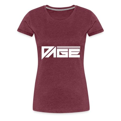 DAGE White - Frauen Premium T-Shirt