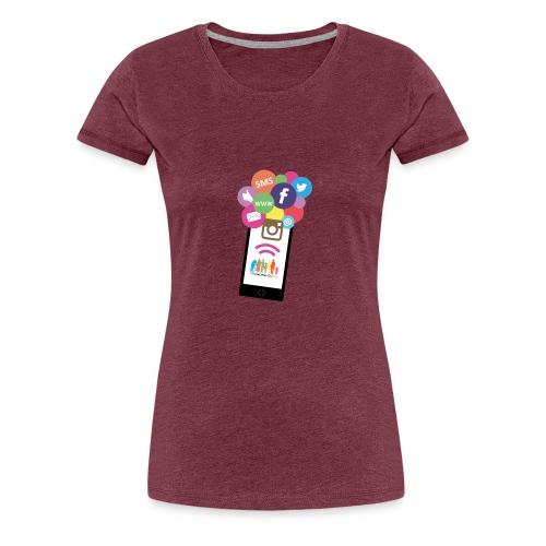 Premium t-shirt, tonåring, sociala medier - Premium-T-shirt dam