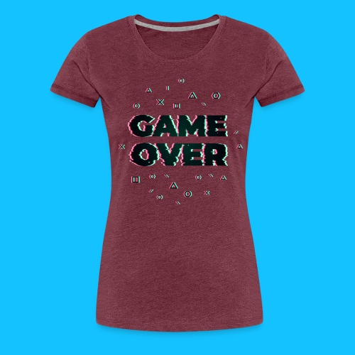GAME OVER - Koszulka damska Premium