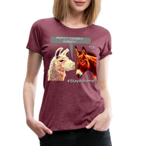 Protect Yourself Donkey - Coronavirus - Women's Premium T-Shirt