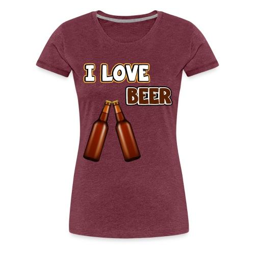 I love beer | Bier Flaschen Spruch lustig Alkohol - Frauen Premium T-Shirt
