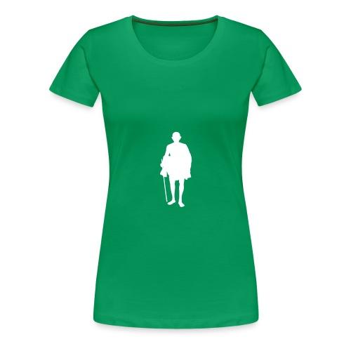 mahatma gandhi silhouette ac61da original white - T-shirt Premium Femme