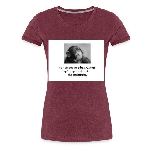 vieux singe et grimace 2 png - T-shirt Premium Femme