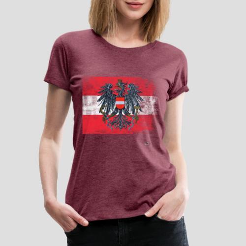 Österreich - Austria Flagge - Frauen Premium T-Shirt