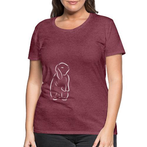 stehendes Häschen Hase Kaninchen Zwergkaninchen - Frauen Premium T-Shirt