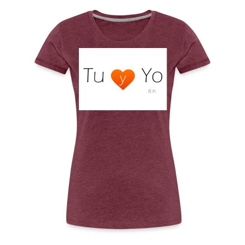 du und ich span text - Frauen Premium T-Shirt