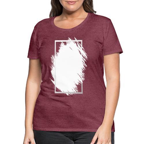 Grunge Rahmen fuer Deine Ideen 2 - Frauen Premium T-Shirt