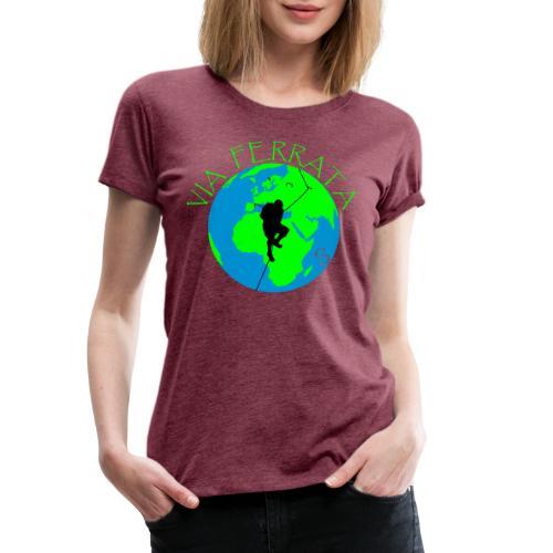 Via Ferrata World - Frauen Premium T-Shirt