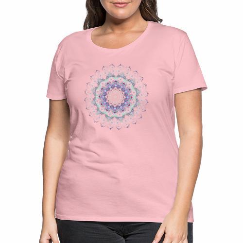 Hvid mandala - Dame premium T-shirt