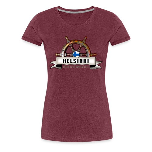 Helsinki Ruori - Merelliset tekstiilit ja lahjat - Naisten premium t-paita