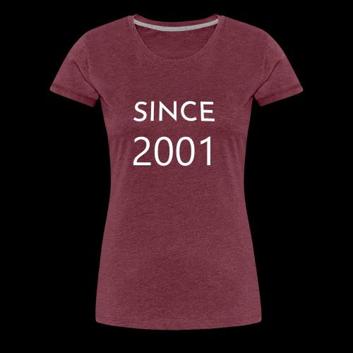 Geburtstag t-shirt zum 18 Jahr/ since 2001 - Frauen Premium T-Shirt