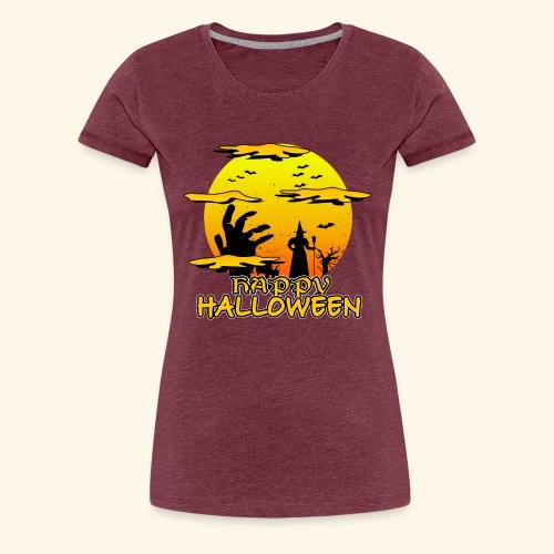 Halloween Hexe mit riesiger Hand - Happy Halloween - Frauen Premium T-Shirt