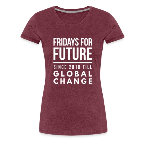 Fridays for Future till GlobalChange RescueTheBlue - Frauen Premium T-Shirt
