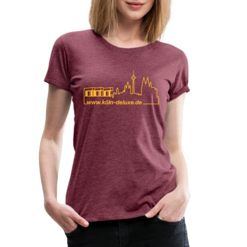 www köln deluxe de Aufkleber - Frauen Premium T-Shirt