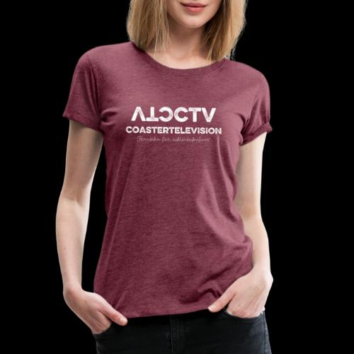 CTV Logo Wihte - Frauen Premium T-Shirt
