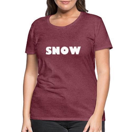 SNOW - Frauen Premium T-Shirt
