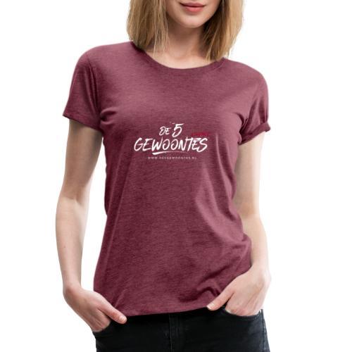 Logo5gewoontes wit transparant - Vrouwen Premium T-shirt