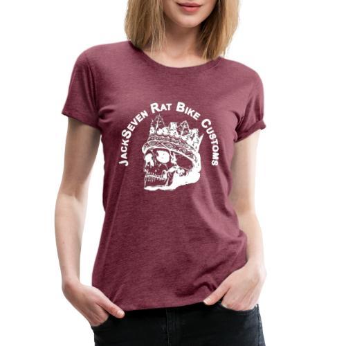 jackseven customs skull bobber chopper caferacer - Frauen Premium T-Shirt