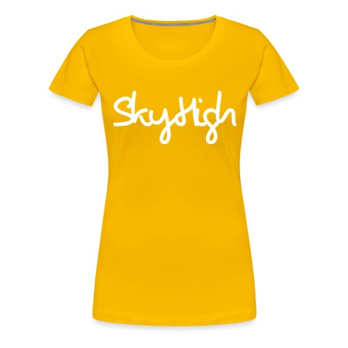 SkyHigh - Snapback - (Printed) White Letters - Women's Premium T-Shirt