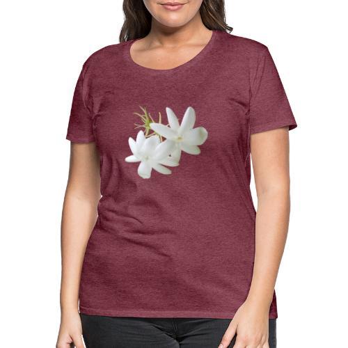 Jasmin weiss Blüte Strauch Duft Pflanze - Frauen Premium T-Shirt