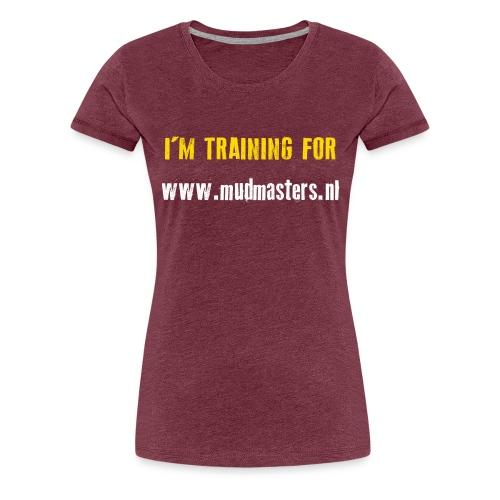 tshirt back - Vrouwen Premium T-shirt