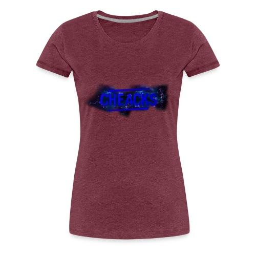 New Cheacks Banner/Logo Men Shirt - Vrouwen Premium T-shirt