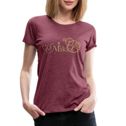 miklof logo gold outlined 3000px - Women's Premium T-Shirt