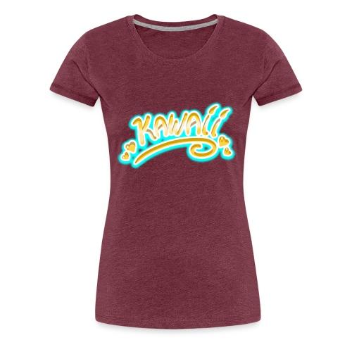 Kawaii Jaune et Bleu - T-shirt Premium Femme