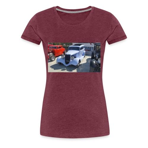 Turkos bil i Norrtälje - Premium-T-shirt dam