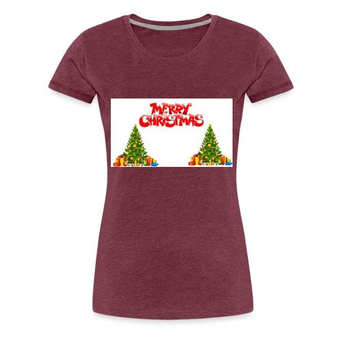 Merrry Christmas (Jule Logo!) - Premium T-skjorte for kvinner