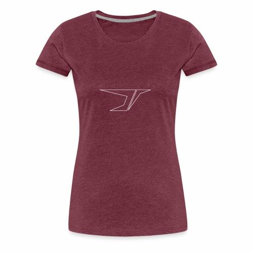 DuesiBS d outline weiß - Frauen Premium T-Shirt