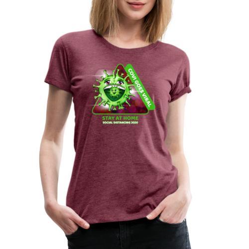 Covi goes Viral - Frauen Premium T-Shirt