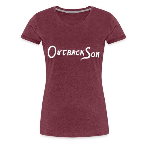 outbackson schriftzug weiß - Frauen Premium T-Shirt