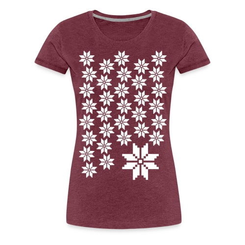 33 Schneeflocken Norweger Muster - Frauen Premium T-Shirt
