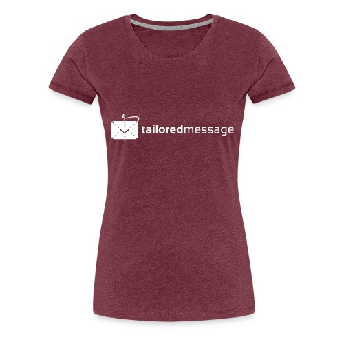 Tailored Message Black Tee - Premium T-skjorte for kvinner