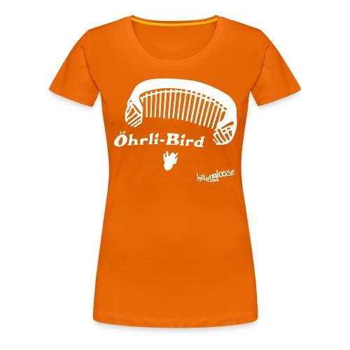 oehrlibird brown - Frauen Premium T-Shirt