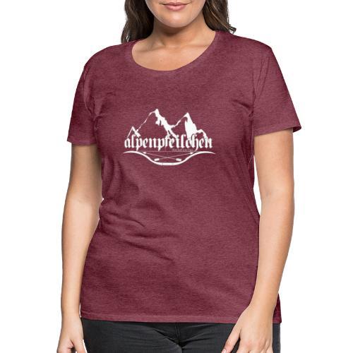Alpenpfeilchen - Logo - white - Frauen Premium T-Shirt