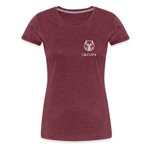 eiktyrne logo sv - Premium T-skjorte for kvinner