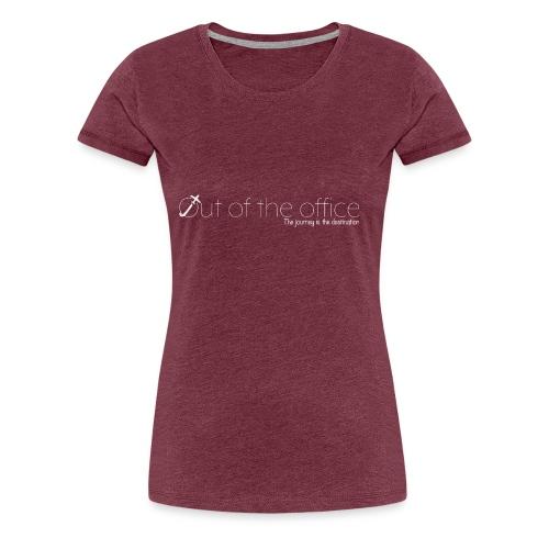 Logo white - T-shirt Premium Femme