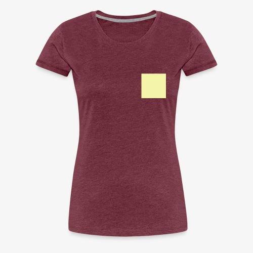 Pastel Yellow - T-shirt Premium Femme