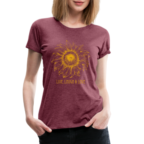 Sonnenblume Zeichnung - Frauen Premium T-Shirt